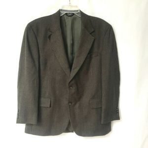 Jos A Bank Blazer Wool Cashmere Green Jacket 42